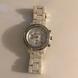 Michael Kors Quartz Crystal White Watch